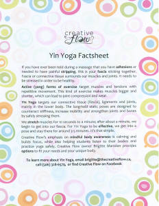 Yin Yoga factsheet